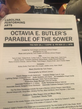 Parable of the Sower Opera. A great show.