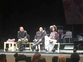 After performance talk back with Toshi Reagon, Alexis Pauline Gumbs as moderator, and Director Eric Ting
